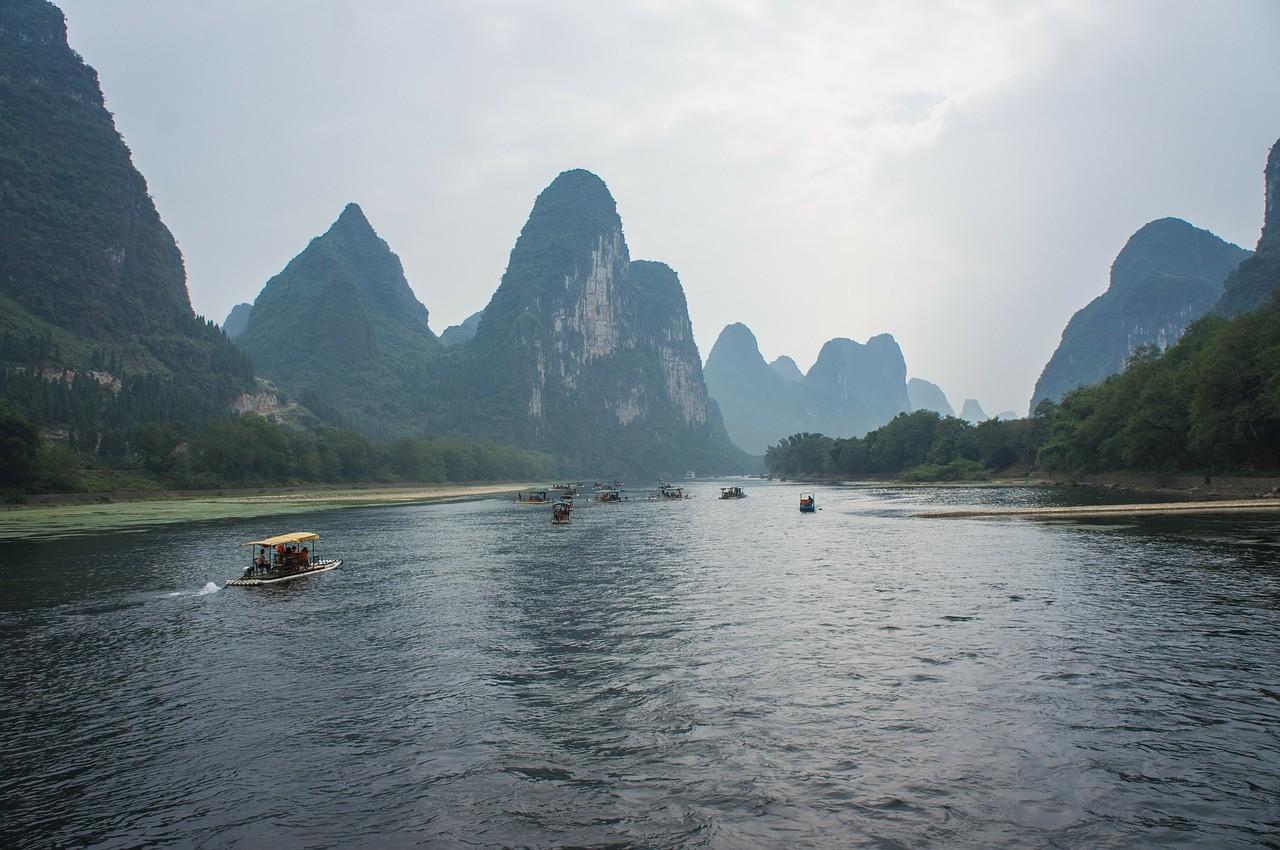 Beautiful places in China: Li River, Yangshuo, Guilin, China