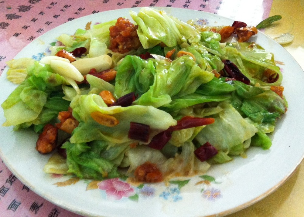 china food--shredded cabbage