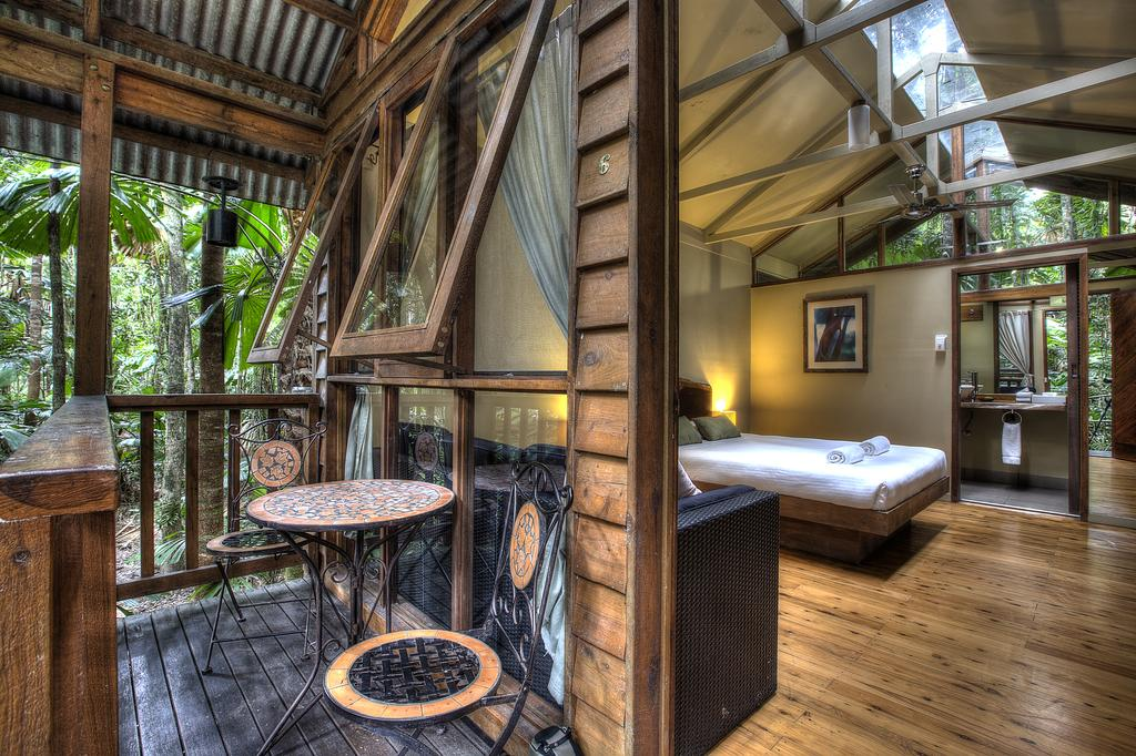 Trip to Australia cost: Room at Daintree Rainforest Ecolodge near Cairns. Photo by Daintree Ecolodge.