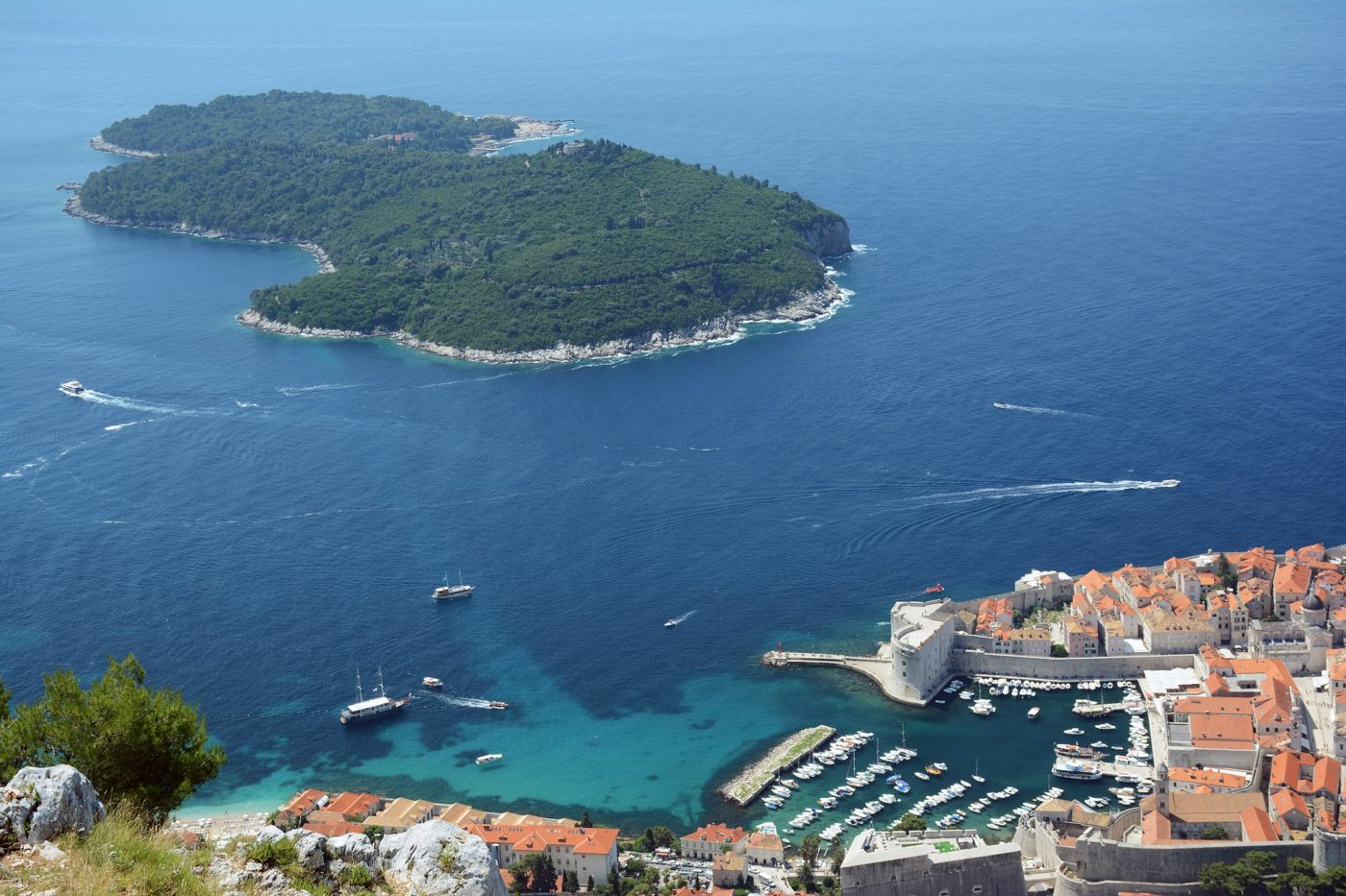 Lokrum Island, view from Dubrovnik