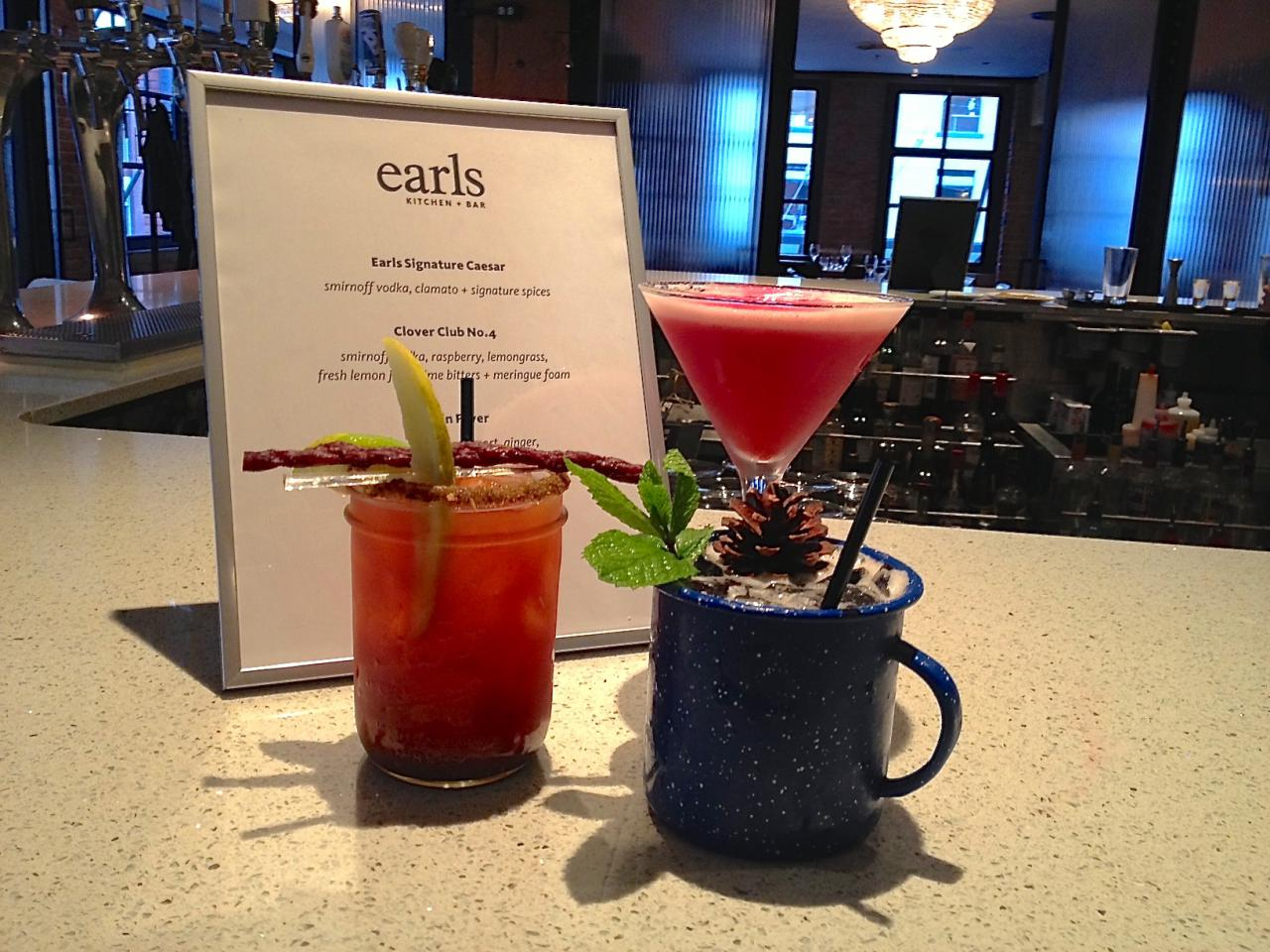 Signature Caesar cocktail at Earl's Restaurant