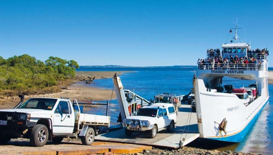 Fraser Island Tour: Ferry to Fraser Island. Photo by Ferry Venture Barges.