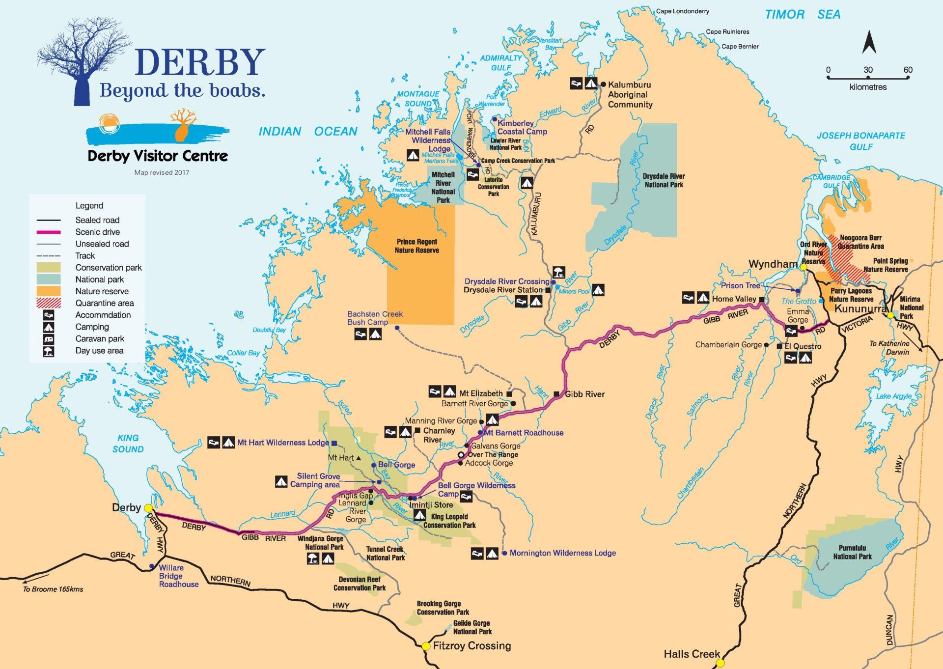 Gibb River Road map