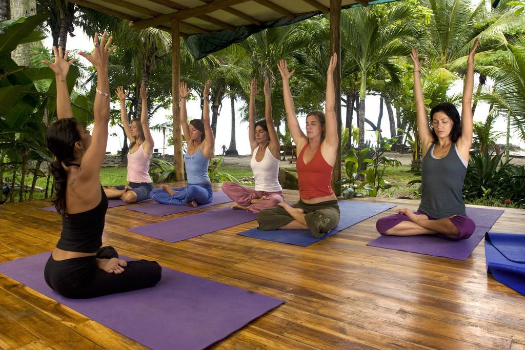 hotels in santa teresa Costa Rica: Open air yoga studio at Hotel Tropico Latino, Santa Teresa. Photo by Hotel Tropico Latino.