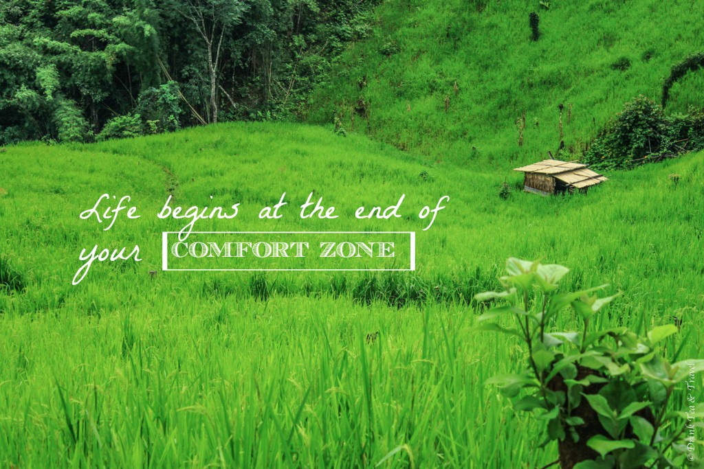 Inspirational Travel Quotes: Life begins at the end of your comfort zone