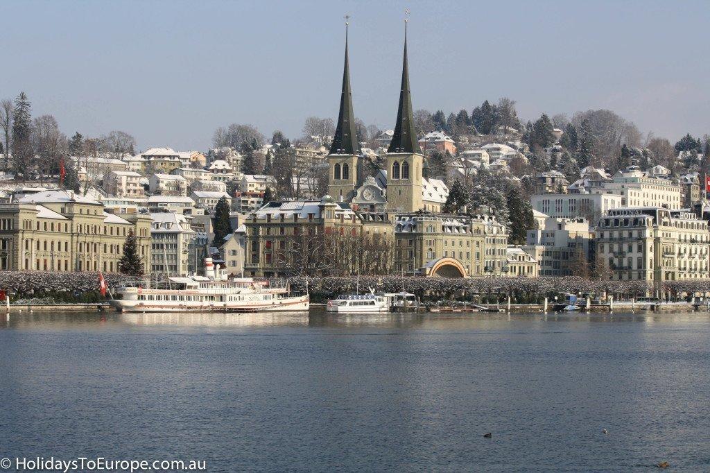 Lucerne, Switzerland at Christmas,