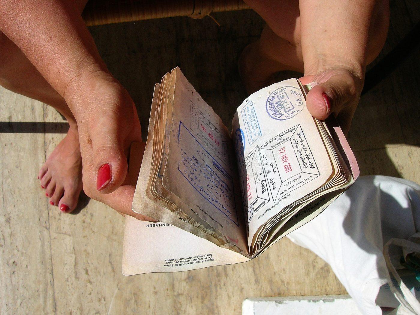 Minimalism: passport stamps