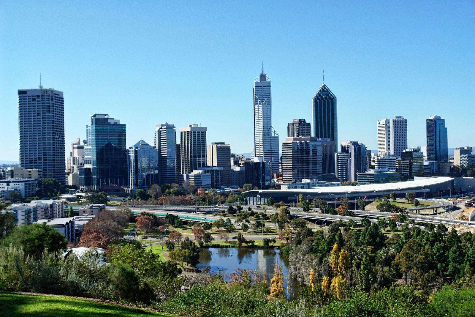 Western Australia itinerary: Perth Skyline from Kings Park