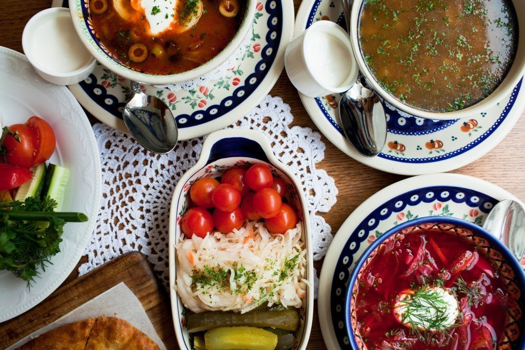 Traditional food in Eastern Europe