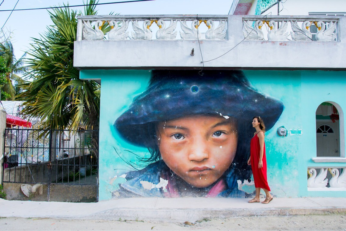 Street art, Isla Holbox, Mexico Contributed by Stefania from Every Steph