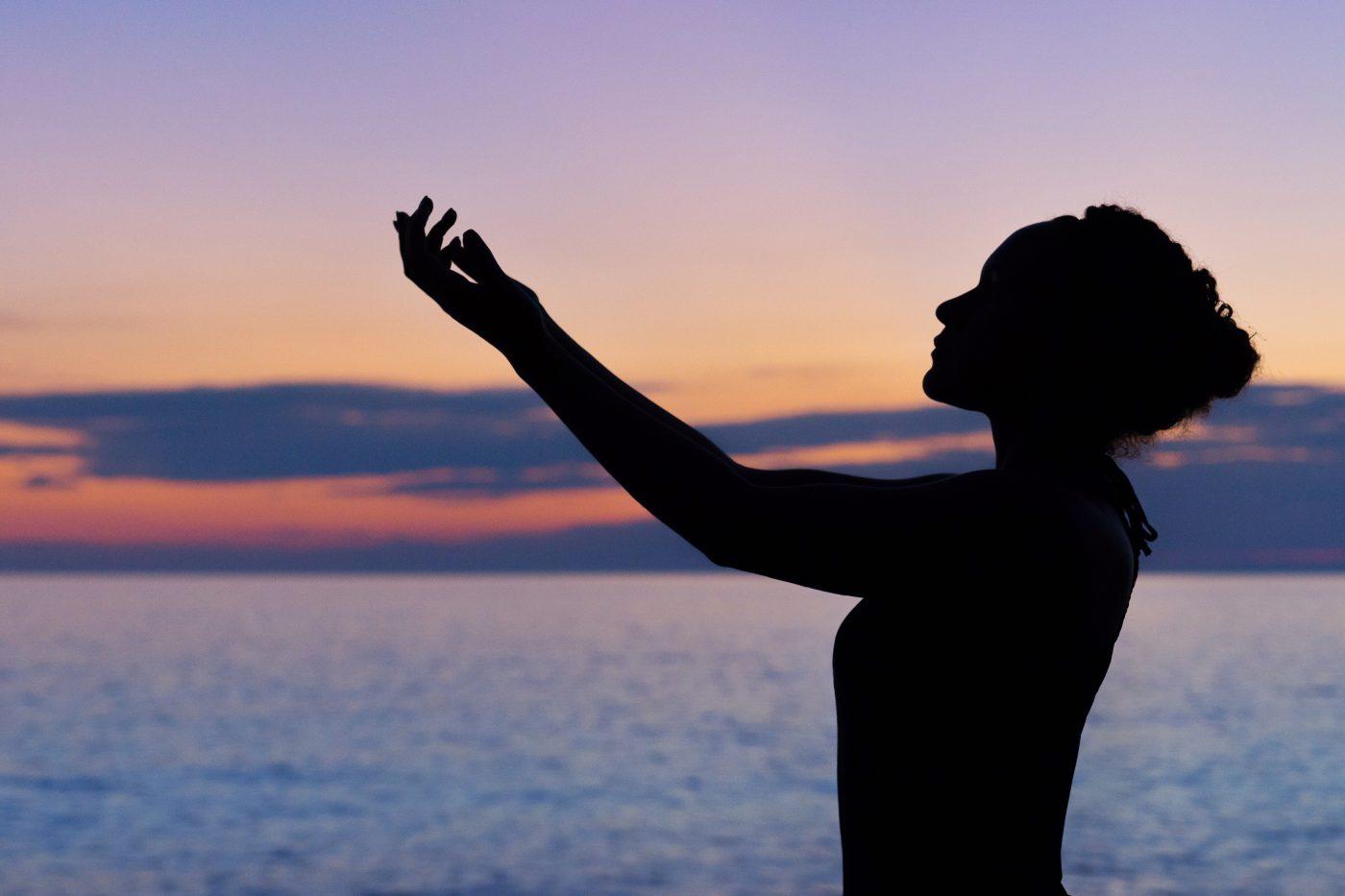 Yoga pose at a meditation retreat